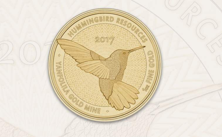 Mali – Hummingbird Resources to produce Single Mine Origin pure gold coins from the Yanfolila mine