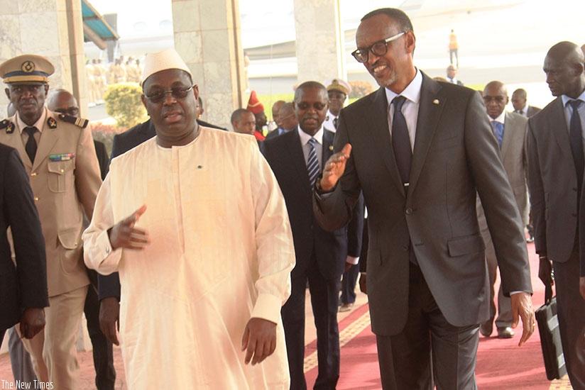 Senegal : President Kagame in Dakar for peace, securitymeet