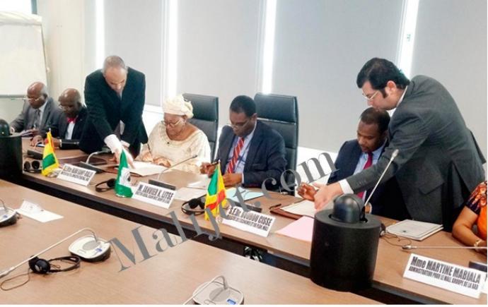 Mali – Interconnexion électrique Guinée-Mali : Un accord de 39,2 milliards de CFA signé avec laBAD