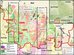 Mali – Compass Gold Update: Sikasso Exploration Program in Southern Mali