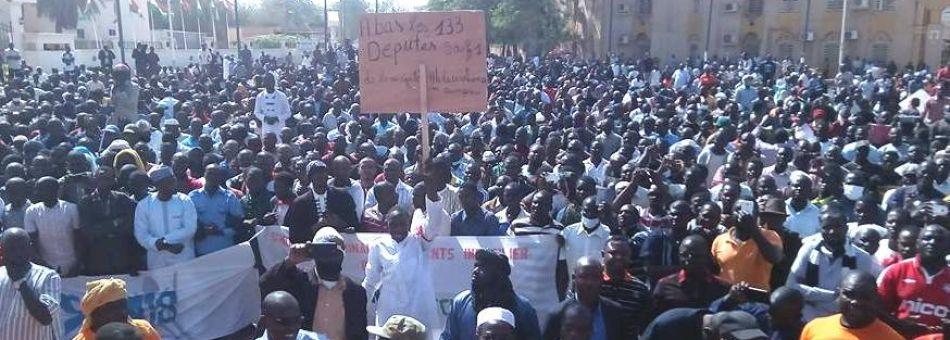 Niger- La société civile a battu le pavé ce dimanche contre la loi des finances et la mauvaisegouvernance