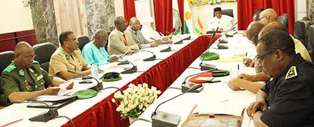 Niger- Réunion du Conseil National de Sécurité sous la présidence du Chef del'Etat