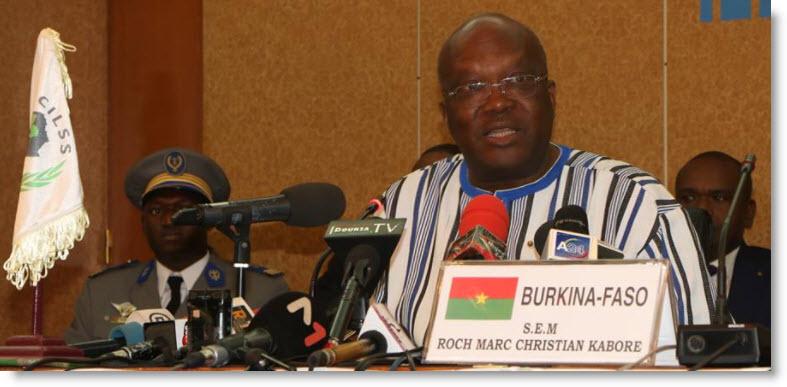 Niger/Burkina: Le Président Roch Marc Christian Kaboré du Burkina, nouveau Président en exercice duCILSS
