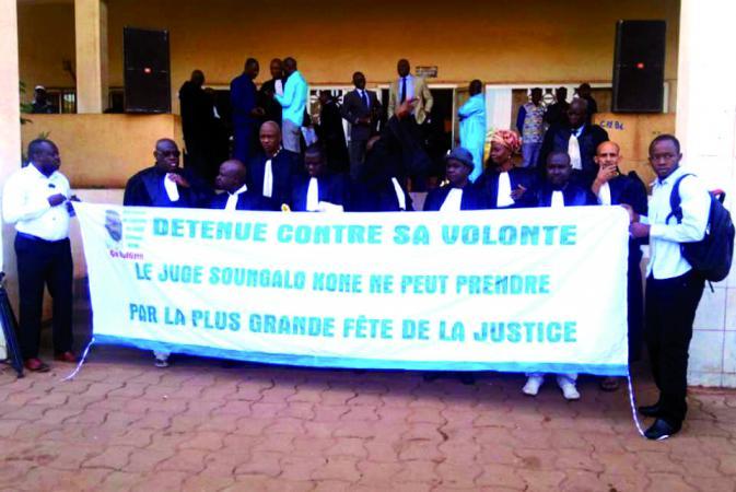 Mali – Sit-in devant la Cour d'Appel de Bamako : Les juges exigent une plus grande implication du gouvernement afin que Soungalo Koné soitlibre
