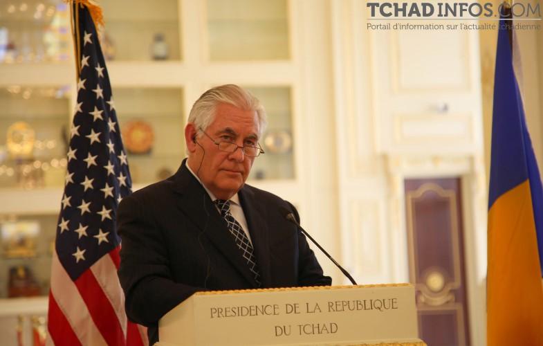 """Tchad / USA: """"le Tchad pourrait sortir de la liste noire des États-Unis rapidement"""" Rex Tillerson#G5Sahel"""