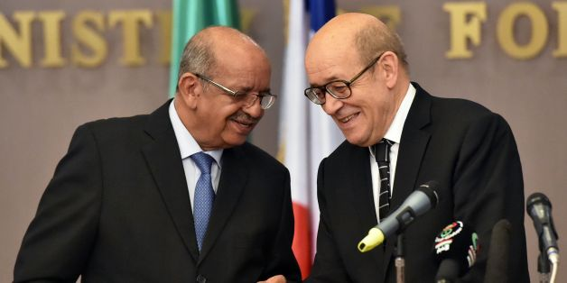 Algeria – Meeting between Jean-Yves Le Drian and his counterpart (Paris, 9 April 2018) #Libya