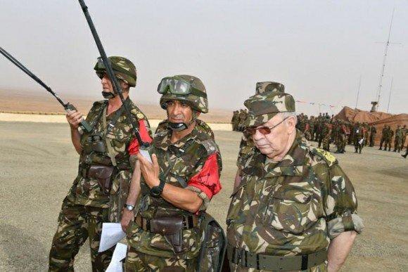 Algérie : 4ème région militaire: Gaïd Salah supervise un exercice tactique avec munitions réelles #Mali#Libya