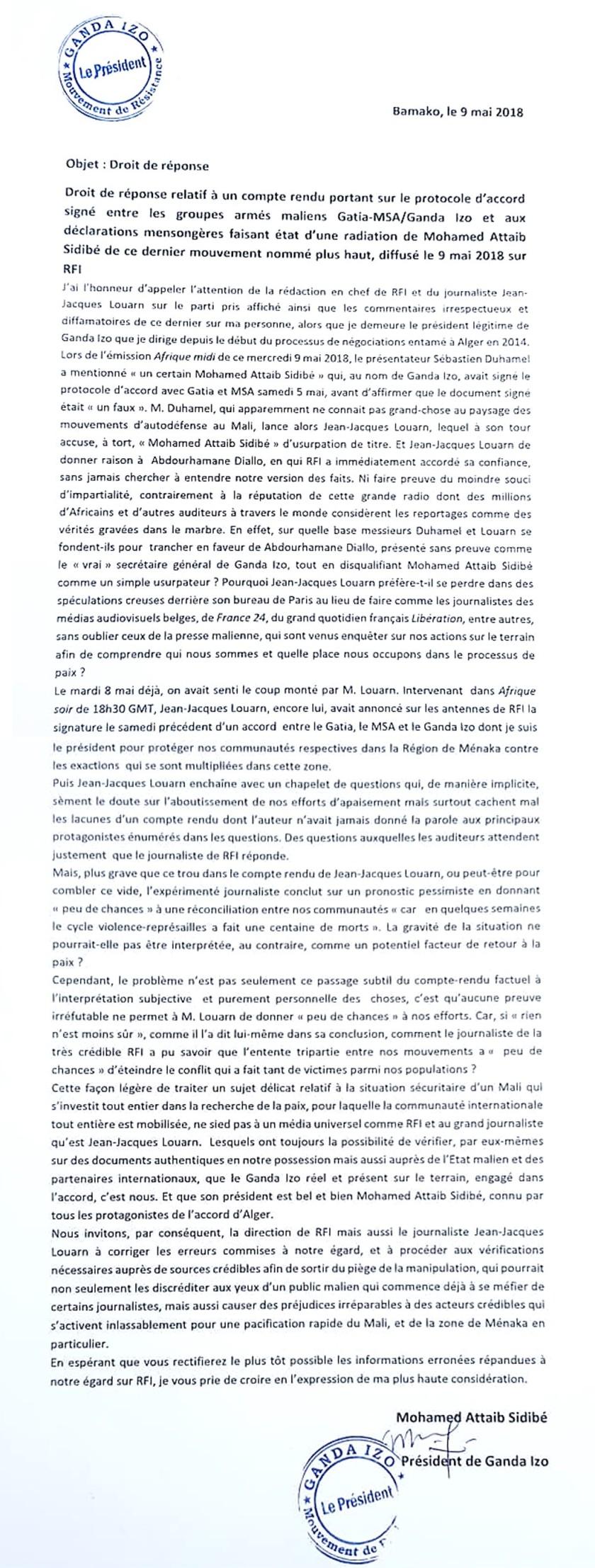 GANDA IZO RFI