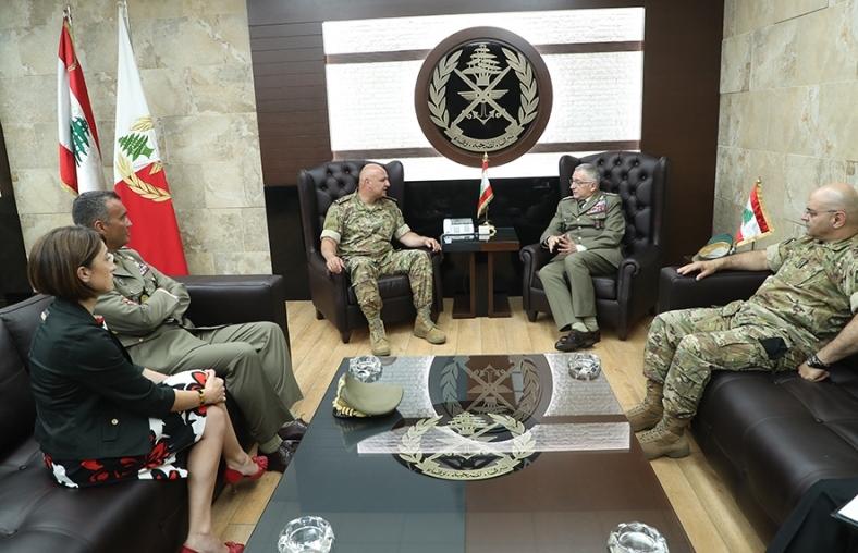 Army Commander, interlocutors tackle general situation #Lebanon #Algeria#Italy