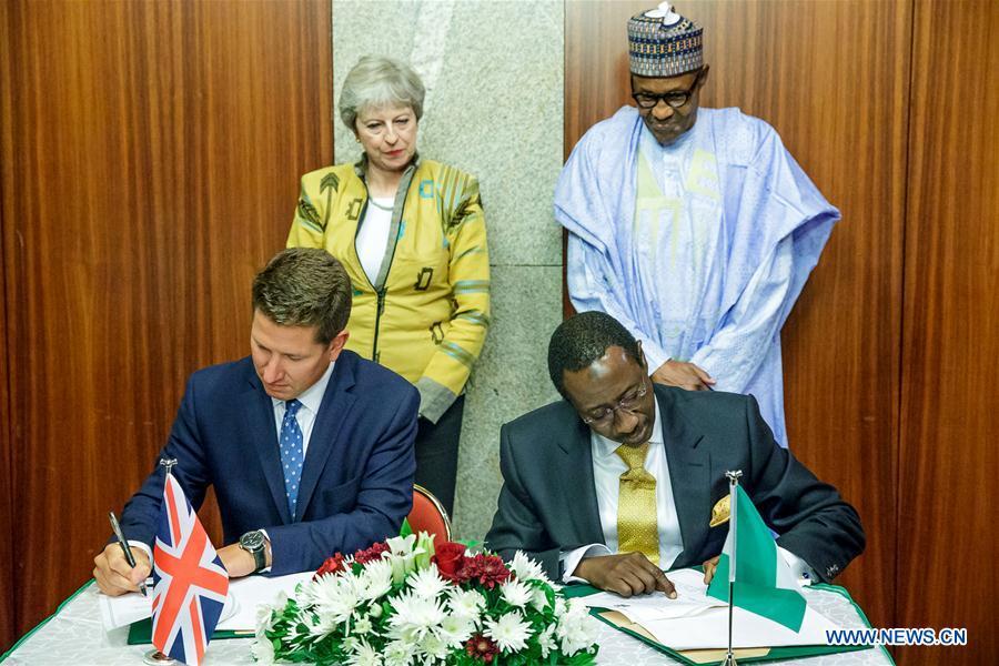 Le Nigeria et la Grande-Bretagne signent des accords sur l'économie et un partenariat en matière desécurité