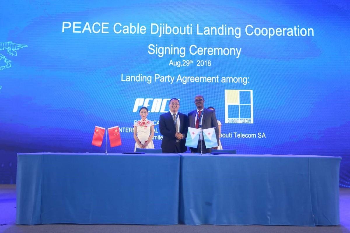 PEACE Cable lance une concession d'exploitation en coopération avec le Pakistan etDjibouti