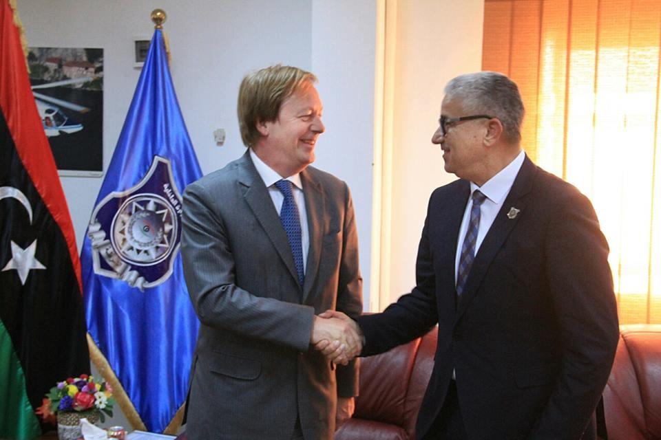 Libya/UK – Minister of Interior reviews security collaboration with UKAmbassador