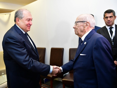 Tunisia president invites Armenia's Sarkissian for official visit to hiscountry