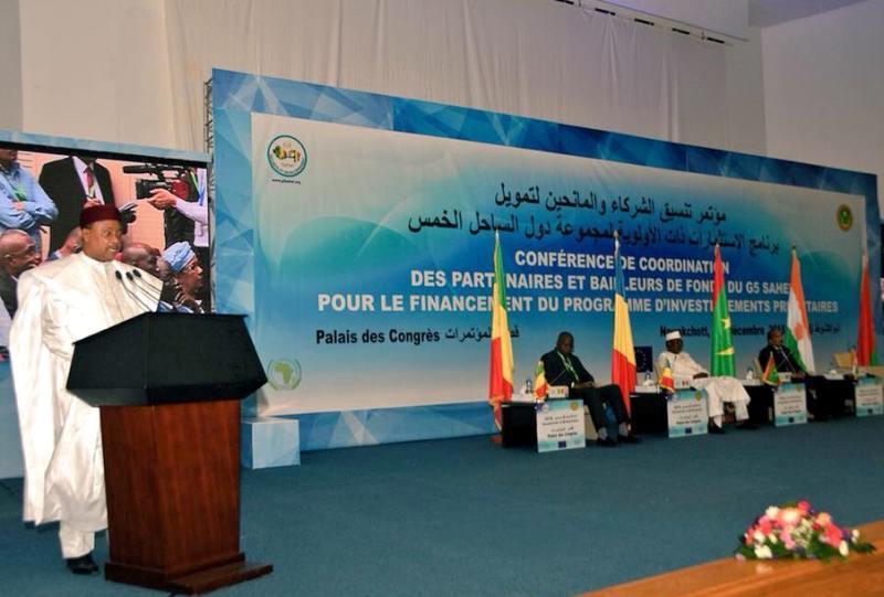 Niger/G5 Sahel : selon le président Issoufou, sur les 414 millions d'euros promis, la Force conjointe n'a reçus que 18 millions (Discours àNouakchott)
