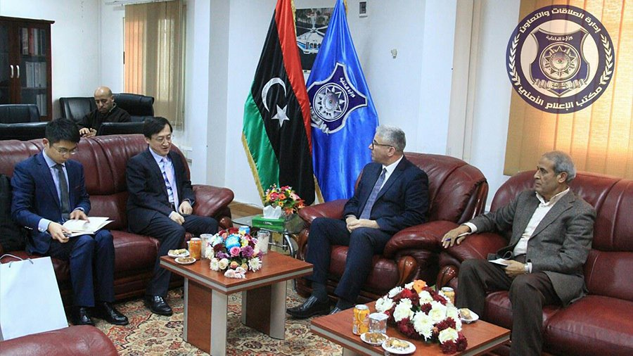 Libya – Interior Minister discusses with Chinese ambassador return of Chinese companies
