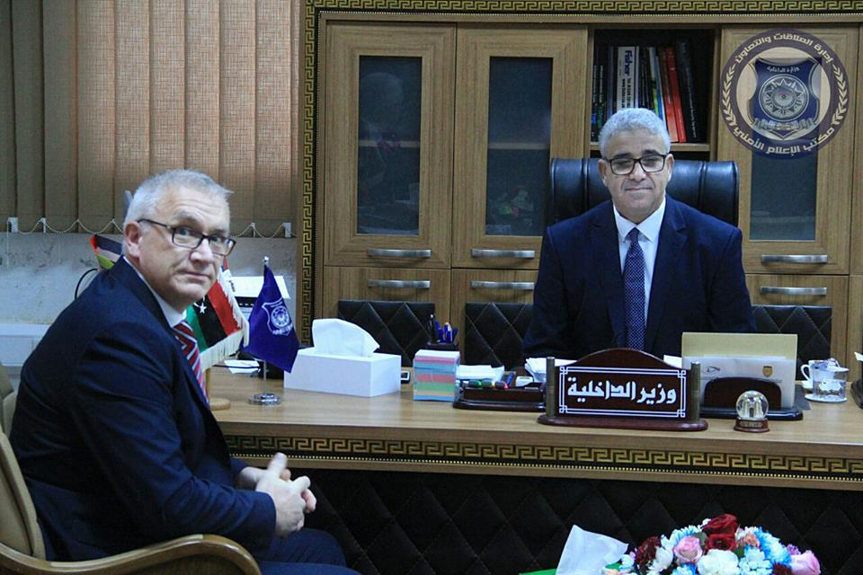 Libya/UK – Interior Minister discusses with Scotland Yard representative common security issues