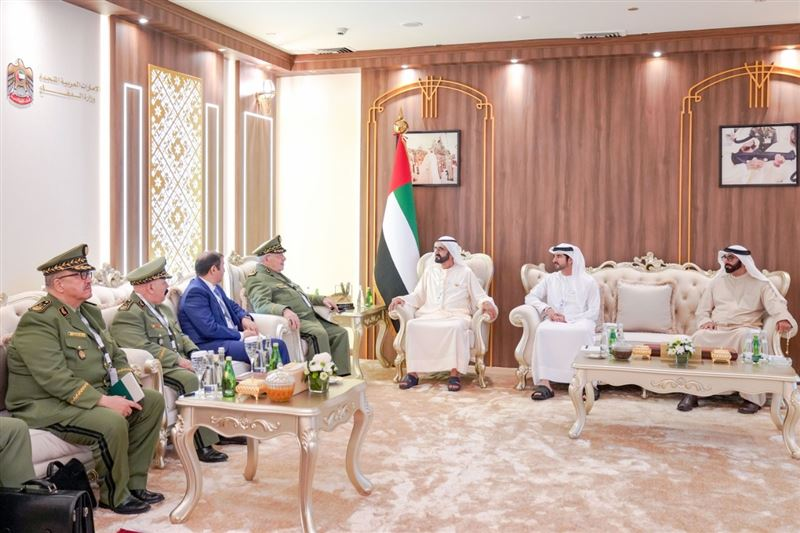 UAE/Algeria – Mohammed bin Rashid receives Algerian Vice Minister of Defence