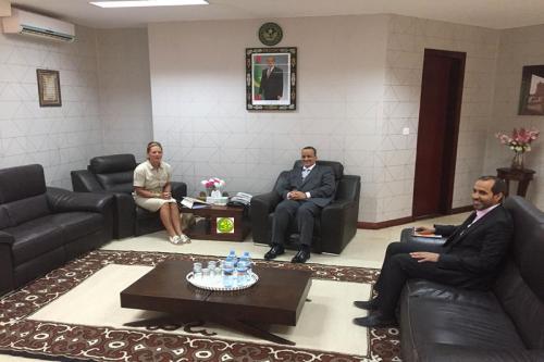 Mauritanie/Allemagne – Le ministre des affaires étrangères reçoit l'ambassadrice d'Allemagne enMauritanie