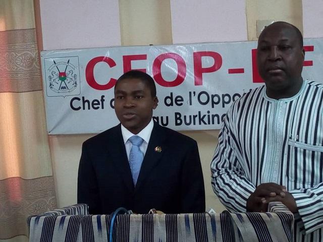 Burkina/Canada – Coopération canado-burkinabè : L'ambassadeur Edmond R. Dejon Wega reçu en audience par le porte-parole del'opposition