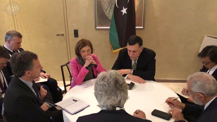 Libya/France – PC's head reviews with French Defence Minister developments in Libyan arena