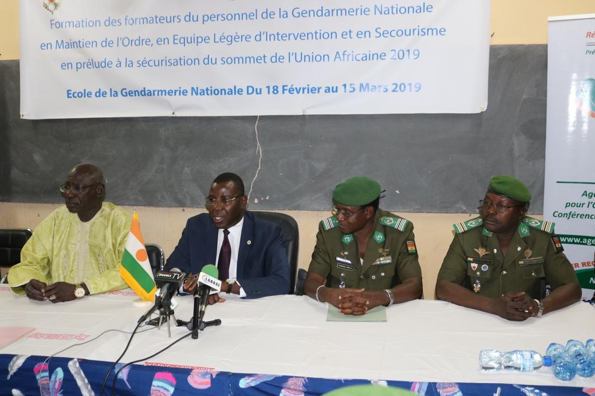 Niamey 2019 : Lancement d'une formation des formateurs du personnel de la gendarmerienationale