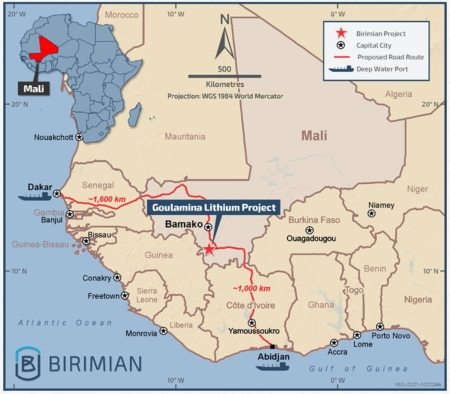 Mali / Lithium – Birimian receives environmental permit for lithium project, bringing it closer to development