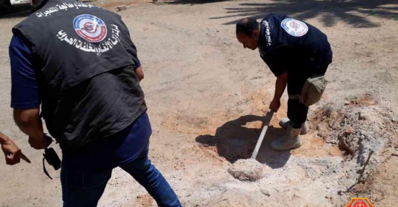 Libya – National Safety Authority conducts demining operations in centralTripoli