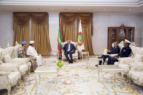 Mauritanie / Mali – Le Président de la République reçoit le représentant spécial du secrétaire général des Nations Unies et chef de la mission de paix auMali