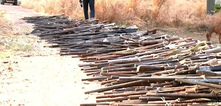 Cameroon Military Seizes, Destroys Illegal Guns in North #Chad #Nigeria
