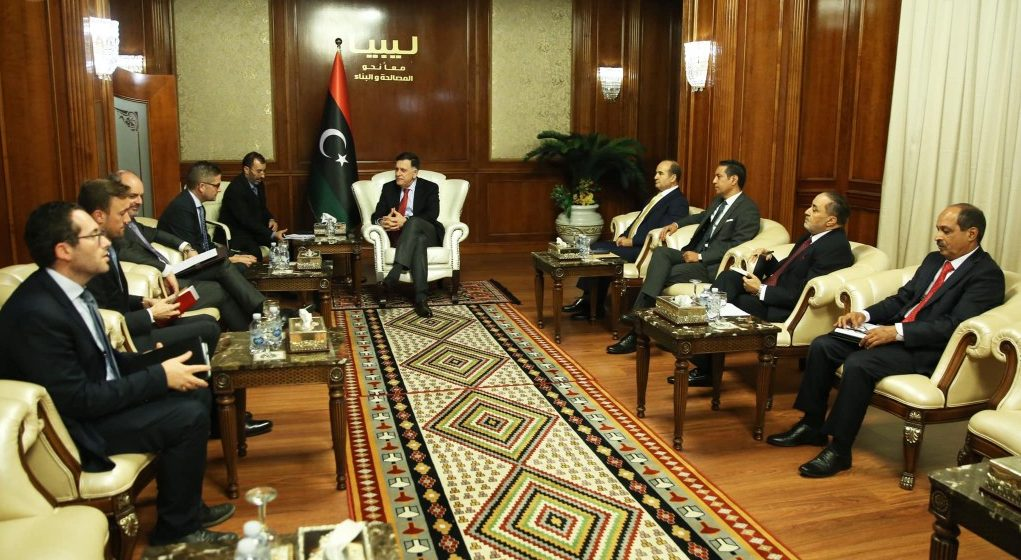 Al-Sarraj, EU and Germany's ambassadors discuss security situation in Libya