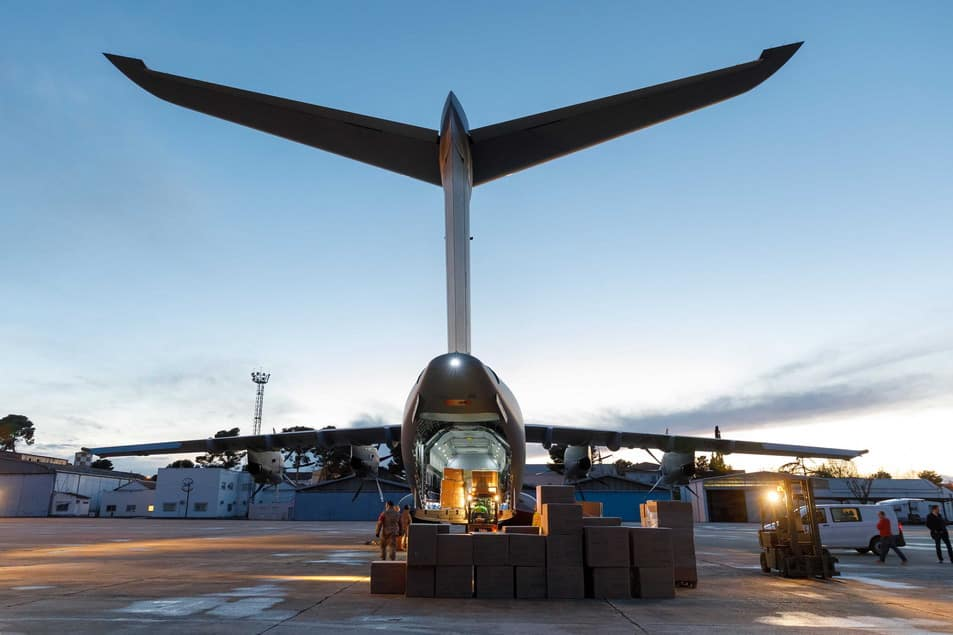 Turkish A400Ms deliver medical supplies to South Africa, return withmunitions