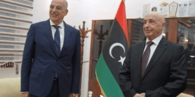 "Greek FM Dendias discusses ""delimitation of maritime zones"" with Libya"