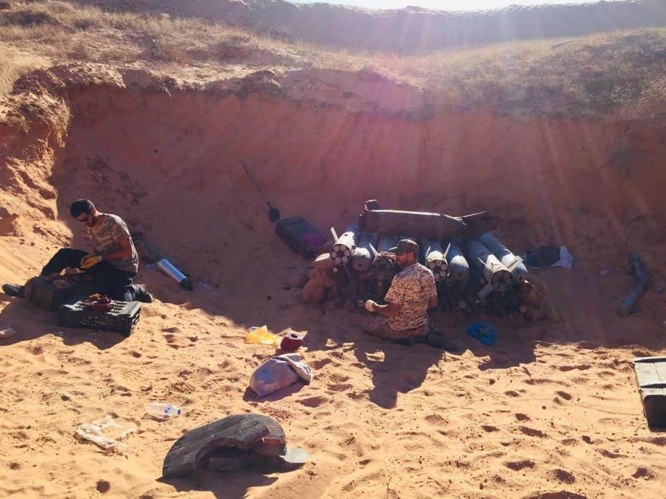 Libya's Army under GNA destroys 14 tons of war remnants andmines