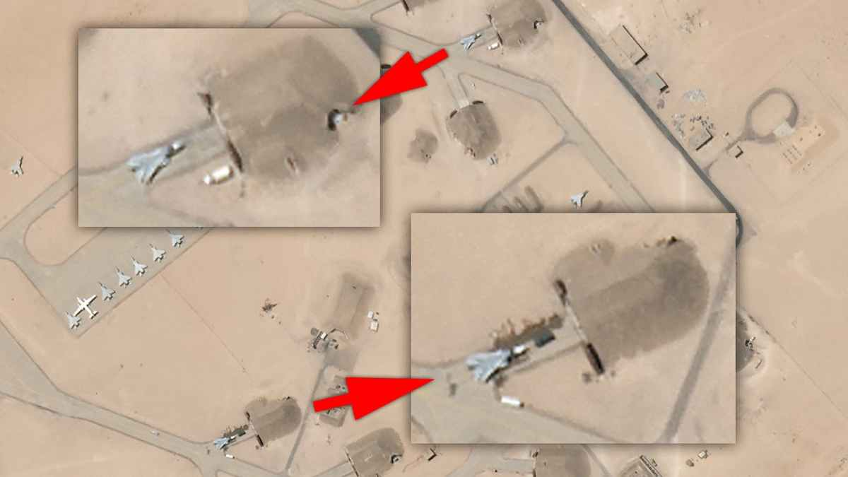 Two Su-24 Combat Jets Seen In Satellite Image Of Libyan Air Base As Air War Intensifies ( By: Joseph Trevithick )