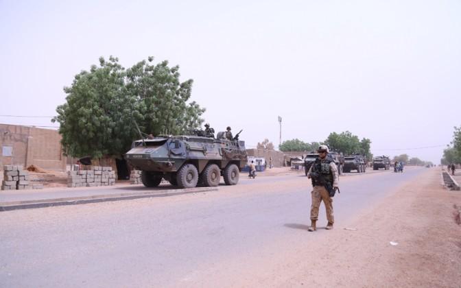 Mali – Estonian infantry platoon ESTPLA-36 performs last patrol inGao